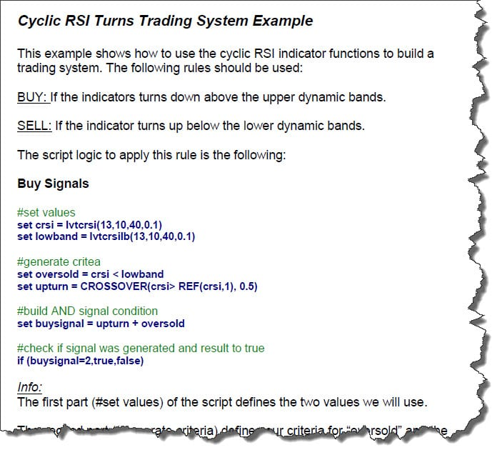 Trading strategies script